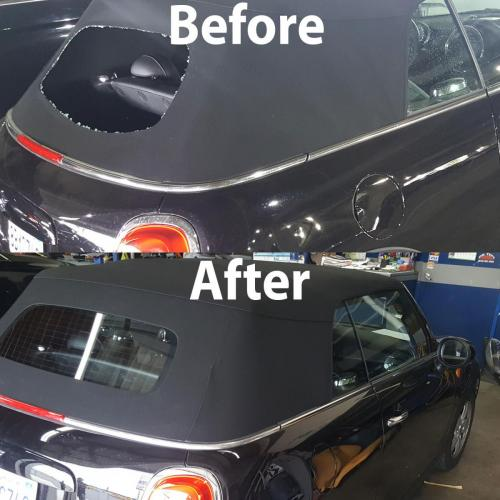 Back Glass Before & After