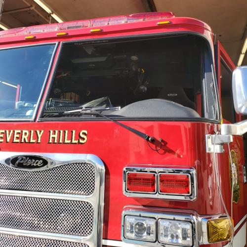 Bevery Hills Fire Windshield 1