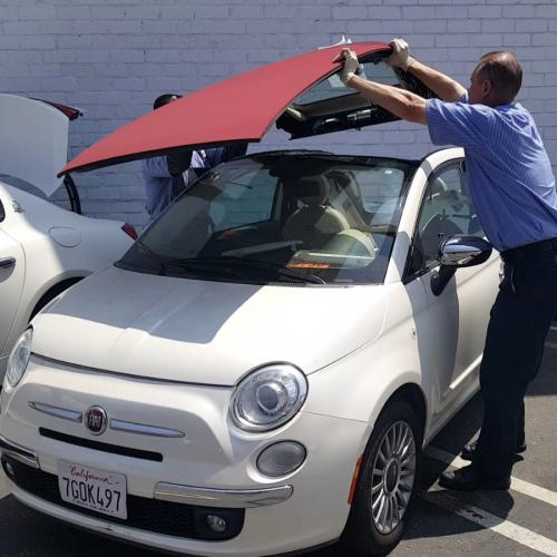 Replacing a retractable roof at Van Nuys Fiat