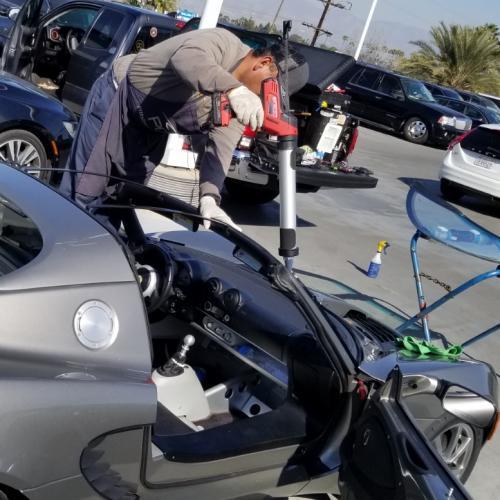 Replacing windshield at Galpin Lotus