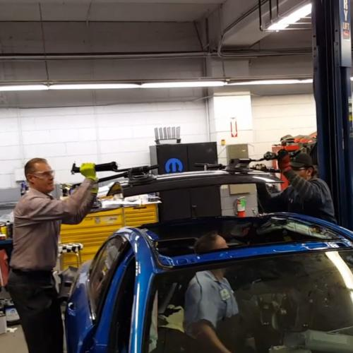 Replacing a panoramic roof glass at Alfa-Romeo of Glendale
